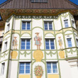 Facade of traditional houses in the town of Bad Toelz, Upper Bavaria - Photo