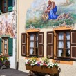 Stock Photo: Beautifully painted houses in the village of Mittenwald, Bavaria