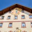 Beautifully painted house in the village of Mittenwald, Bavaria — Stock Photo