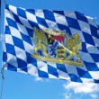 Streaming Bavarian flag — Stock Photo