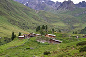Mountain huts in South Tyrol, Italy — Stock Photo