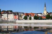 πόλη του bad toelz, στην άνω βαυαρία, γερμανία — Φωτογραφία Αρχείου