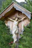 Wayside shrine in the northern italian mountains — Stock Photo