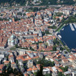 The small town of Como in Italy, Lombardia, from above — Stock Photo #9204504