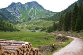 Rotwand mountains in the bavarian alps — Stock Photo