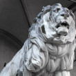 Stone lion statue at Feldherrnhalle in Munich, Bavaria — Stock Photo #9213538