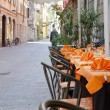 Stock Photo: Italirestaurant in streets of Como, Italy