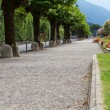 Promenade at the town of Belaggio, lake Como, Italy — Stock Photo