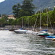 Little harbour in village of Colonno at lake Como in Italy — Stok Fotoğraf #9214902
