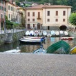 The tiny harbour of Torno at lake Como, Italy — ストック写真