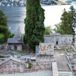 Historic graveyard at lake Como in Italy — Stock Photo