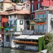 The small town of Varenna at lake Como in Italy — Stock Photo
