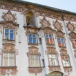 Rococo facade in the town of Wasserburg, Bavaria — Stock Photo