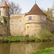 Stock Photo: Dinkelsbuehl, City Wall with Defense Tower