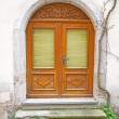 Old door in a German village - Stockfoto