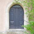 Old door in a German village - Stock Photo