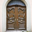Old door in a German village - 图库照片