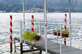 Metal jetty at lake Como in Italy — Stock Photo