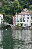 Old villas and houses in Nesso village at lake Como, Italy — Stock Photo