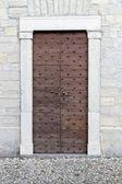İtalya tarihi kilise kapısına — Stok fotoğraf