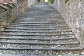Historic staircase in Italy — Stock Photo