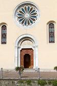 "Historic Church ""Santa Tecla"" in the village of Torno, lake Como, Italy — Stock Photo"