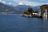 Landing stage on lake Como, Italy — Stock Photo