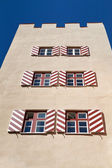 """Historic """"Roter Turm"""" building in the town of Wasserburg, Germany — Stock Photo"""