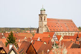 Cathedral St. George, City of Dinkelsbuehl, Franconia, Germany — Stock Photo