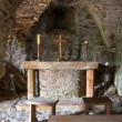 St. Mary's Crypt inside Mont Orgueil Castle in Gorey, Jersey, UK - Stock Photo