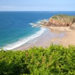 Picturesque Greve de Lecq Beach, Jersey, UK — Stockfoto