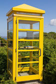 Typical phone booth on the island of Jersey (UK) — Stock Photo