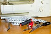 ミシンで縫うこと — ストック写真