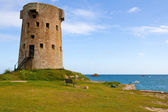 Historic Le Hocq Tower on the Jersey (UK) coast — Stock Photo