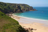 Picturesque Greve de Lecq Beach, Jersey, UK — Stock Photo
