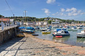 St. Aubin and harbour, Jersey, UK — Stock Photo