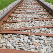 Stock Photo: Railway Line in Spring