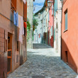Alley in Santarcangelo, le Marches, Italy — Stock Photo #9273378