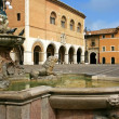 Market place in the city of Fano, Italy — Stock Photo