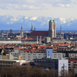 Stock Photo: Munich with view of alps