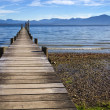 Jetty at lake Chiemsee — Stock Photo