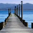 Stock Photo: Jetty at lake Chiemsee