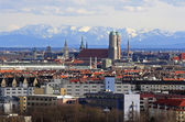 Munich with view of the alps — Stock Photo