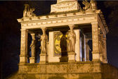 Mosaic at the angel of peace in Munich, Germany, at night — Stock Photo