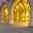 Historic vault at the new town hall in Munich at night — Stock Photo