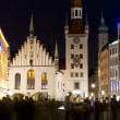 Old city hall in Munich, Germany, at night — Stockfoto