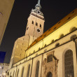 """Alter Peter"" church in Munich, Germany, at night — Stock Photo #9869274"