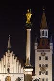 Gammalt stadshus i München, Tyskland, på natten — Stockfoto