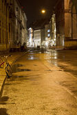 Shopping street in Munich, Germany, at night — Stock Photo
