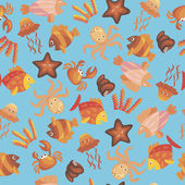 Marine seamless pattern — Stock Vector
